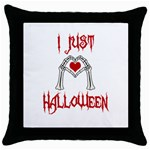 I just love Halloween Throw Pillow Case (Black) Front