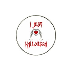I Just Love Halloween Hat Clip Ball Marker by Valentinaart