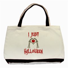 I Just Love Halloween Basic Tote Bag by Valentinaart