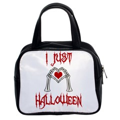 I Just Love Halloween Classic Handbags (2 Sides) by Valentinaart