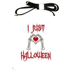I Just Love Halloween Shoulder Sling Bags by Valentinaart