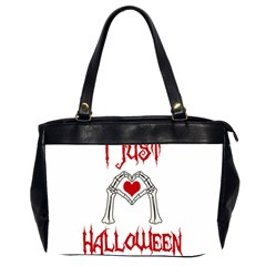 I Just Love Halloween Office Handbags (2 Sides)  by Valentinaart