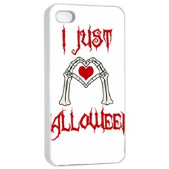 I Just Love Halloween Apple Iphone 4/4s Seamless Case (white) by Valentinaart