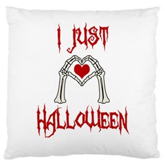 I Just Love Halloween Large Cushion Case (two Sides) by Valentinaart