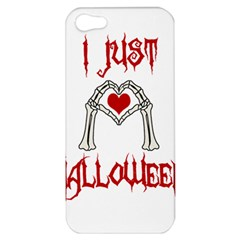 I Just Love Halloween Apple Iphone 5 Hardshell Case by Valentinaart