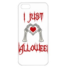 I Just Love Halloween Apple Iphone 5 Seamless Case (white) by Valentinaart