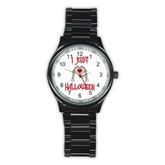 I Just Love Halloween Stainless Steel Round Watch by Valentinaart