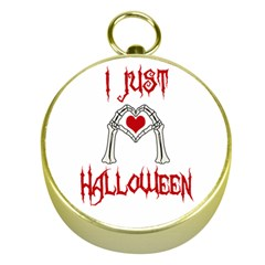 I Just Love Halloween Gold Compasses by Valentinaart
