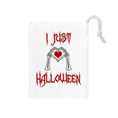 I Just Love Halloween Drawstring Pouches (medium)  by Valentinaart