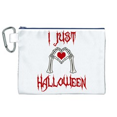 I Just Love Halloween Canvas Cosmetic Bag (xl) by Valentinaart