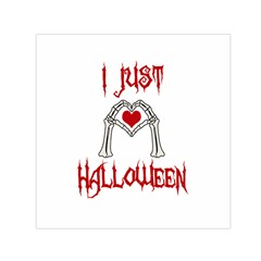 I Just Love Halloween Small Satin Scarf (square) by Valentinaart