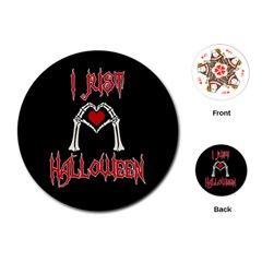 I Just Love Halloween Playing Cards (round)  by Valentinaart