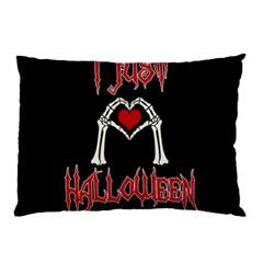 I Just Love Halloween Pillow Case (two Sides) by Valentinaart
