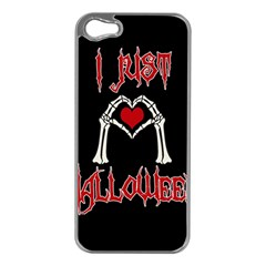 I Just Love Halloween Apple Iphone 5 Case (silver) by Valentinaart