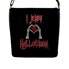 I Just Love Halloween Flap Messenger Bag (l)  by Valentinaart