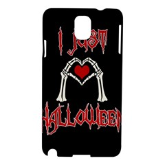 I Just Love Halloween Samsung Galaxy Note 3 N9005 Hardshell Case by Valentinaart
