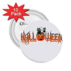 Halloween 2 25  Buttons (10 Pack)  by Valentinaart