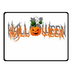 Halloween Fleece Blanket (small) by Valentinaart