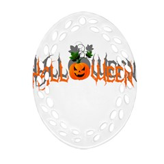 Halloween Oval Filigree Ornament (two Sides) by Valentinaart