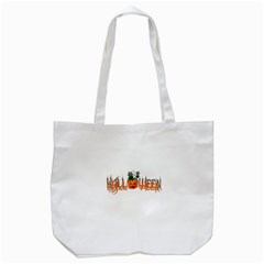 Halloween Tote Bag (white) by Valentinaart