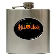 Halloween Hip Flask (6 Oz) by Valentinaart