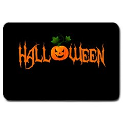 Halloween Large Doormat  by Valentinaart