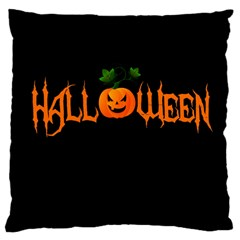 Halloween Large Cushion Case (one Side) by Valentinaart