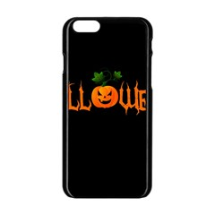 Halloween Apple Iphone 6/6s Black Enamel Case by Valentinaart