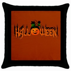 Halloween Throw Pillow Case (black) by Valentinaart