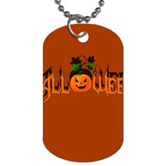 Halloween Dog Tag (two Sides) by Valentinaart