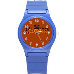 Halloween Round Plastic Sport Watch (s) by Valentinaart