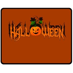 Halloween Double Sided Fleece Blanket (medium)  by Valentinaart