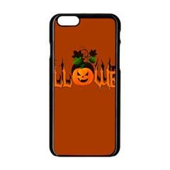 Halloween Apple Iphone 6/6s Black Enamel Case by Valentinaart