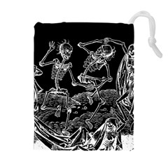 Skeletons   Halloween Drawstring Pouches (extra Large) by Valentinaart