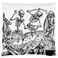 Skeletons   Halloween Large Cushion Case (one Side) by Valentinaart
