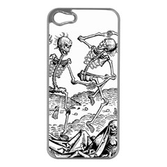 Skeletons   Halloween Apple Iphone 5 Case (silver) by Valentinaart