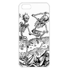 Skeletons   Halloween Apple Iphone 5 Seamless Case (white) by Valentinaart