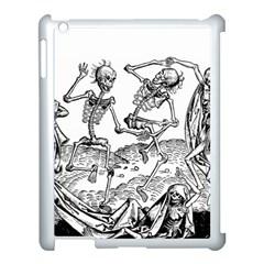Skeletons   Halloween Apple Ipad 3/4 Case (white) by Valentinaart