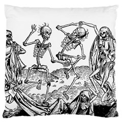 Skeletons   Halloween Large Flano Cushion Case (two Sides) by Valentinaart