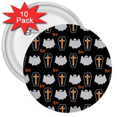 Ghost And Chest Halloween Pattern 3  Buttons (10 Pack)  by Valentinaart
