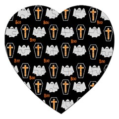 Ghost And Chest Halloween Pattern Jigsaw Puzzle (heart) by Valentinaart
