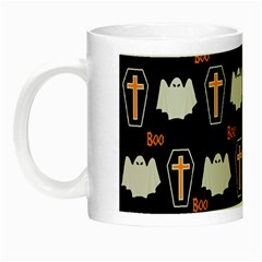 Ghost And Chest Halloween Pattern Night Luminous Mugs by Valentinaart