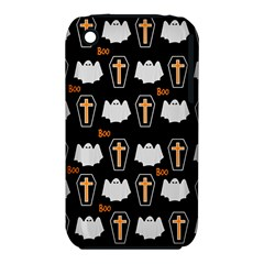 Ghost And Chest Halloween Pattern Iphone 3s/3gs by Valentinaart