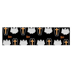 Ghost And Chest Halloween Pattern Satin Scarf (oblong) by Valentinaart