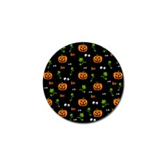 Pumpkins   Halloween Pattern Golf Ball Marker (4 Pack) by Valentinaart