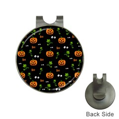 Pumpkins   Halloween Pattern Hat Clips With Golf Markers by Valentinaart