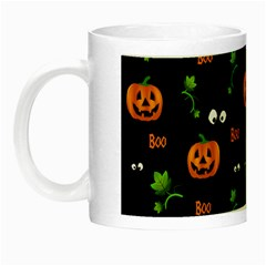 Pumpkins   Halloween Pattern Night Luminous Mugs by Valentinaart