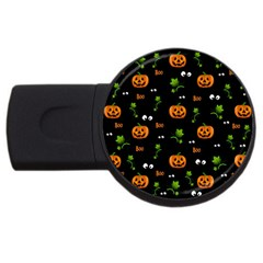 Pumpkins   Halloween Pattern Usb Flash Drive Round (4 Gb) by Valentinaart