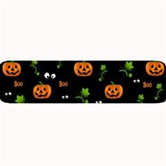 Pumpkins   Halloween Pattern Large Bar Mats by Valentinaart
