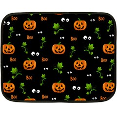 Pumpkins   Halloween Pattern Fleece Blanket (mini) by Valentinaart